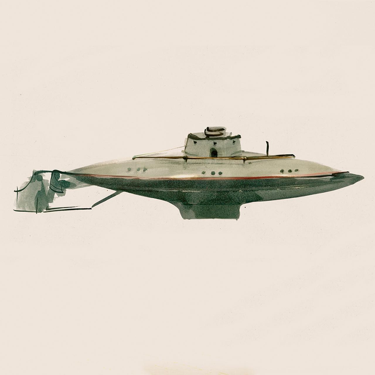 Images : 金属製の潜水艦/1900年代初期