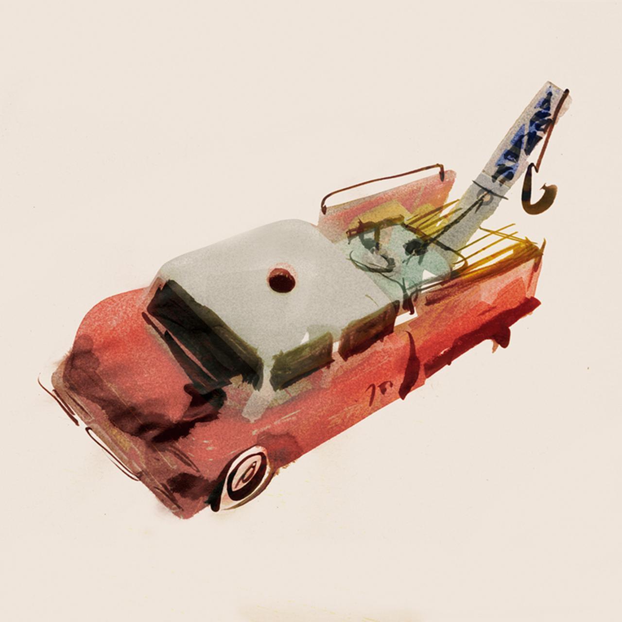 Images : 錫(すず)製のレッカー車/1970年代
