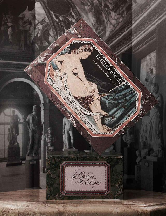 画像: 香り付きポストカード「La Grande Odalisque グランド・オダリスク」 7ユーロ