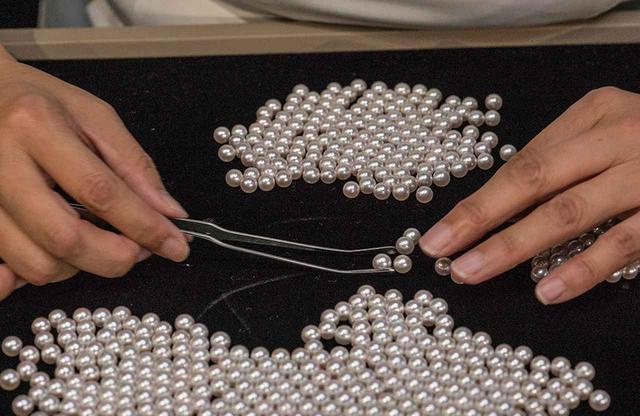 画像: 映像で見る、真珠のマッチング作業「連相」