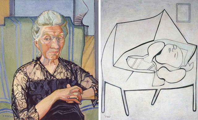画像: (写真左)フランソワーズ・ジロー 《My Grandmother Anne Renoult》(1943) (写真右)フランソワーズ・ジロー 《Paloma Asleep in Her Crib》(1950) COURTESY OF THE ARTIST