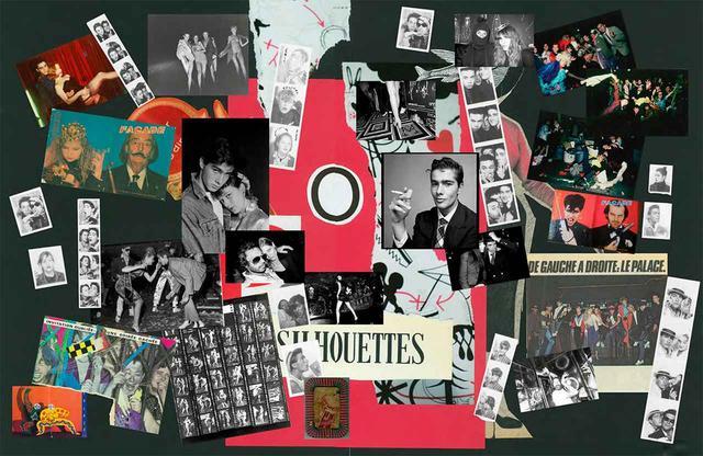 画像: 作品集『Vincent Darré Surreal Interiors of Paris』より。1970年代、パリの伝説的クラブ「ル・パラス」で夜な夜な常軌を逸したハプニングを起こしたダレと友人たち。写真のコラージュはダレが心酔する前衛芸術運動ダダからの影響