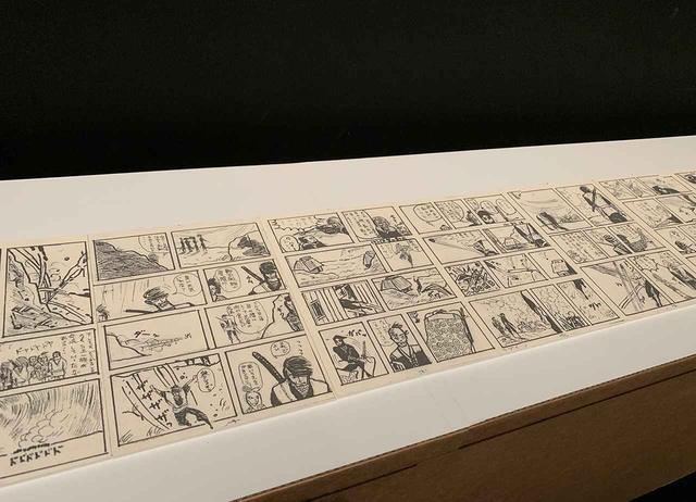 画像: 処女作『戦国群雄伝』など、細野が描いたマンガも並ぶ PHOTOGRAPH BY MASANOBU MATSUMOTO