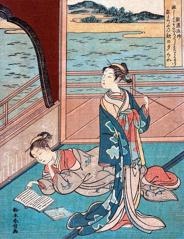 """画像: SUZUKI HARUNOBU, """"JAKUREN HOSHI,"""" 18TH CENTURY, WOODCUT © PICTURES FROM HISTORY/THE IMAGE WORKS"""