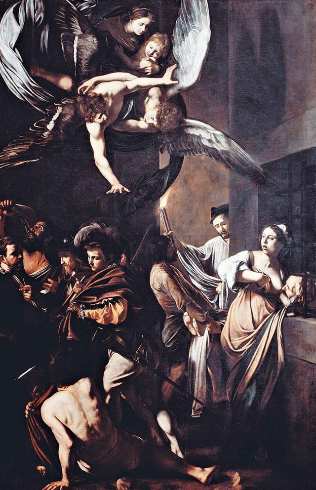 """画像: MICHELANGELO MERISI DETTO IL CARAVAGGIO,""""THE SEVEN WORKS OF MERCY,"""" 1606-7, OIL ON CANVAS, NAPLES, CHURCH PIO MONTE DELLA MISERICORDIA, PHOTO © LUISA RICCIARINI/BRIDGEMAN IMAGES"""