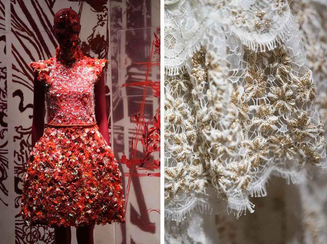 画像: (写真左)2014/15年秋冬 オートクチュール コレクションで発表されたドレス (写真右)2016年春夏 オートクチュール コレクションのドレスのディテール COURTESY OF CHANEL