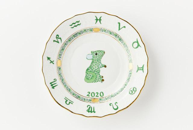 画像: イヤーズプレート・ねずみ<直径約19cm、皿立て付き> ¥10,000
