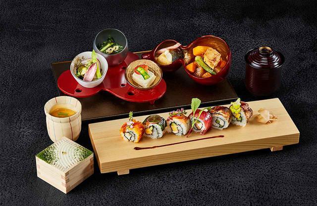 画像: 「ロール寿司御膳」¥2,600 ランチタイムの大人気メニュー