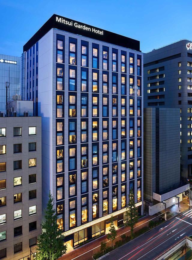 画像: ホテルの全景。銀座5丁目の中心にあり歌舞伎座にも近い