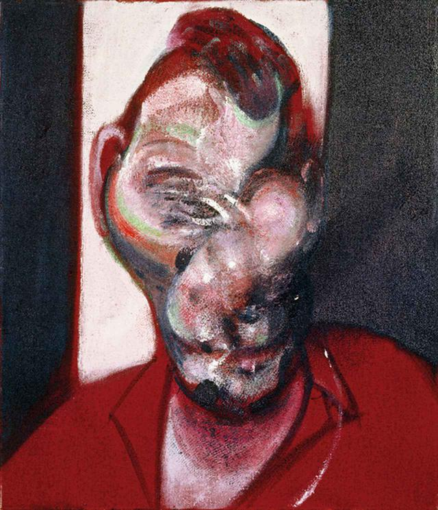 "画像: フランシス・ベーコンによるルシアン・フロイドの肖像画(3作のうちのひとつ) FRANCIS BACON, ""THREE STUDIES FOR PORTRAIT OF LUCIAN FREUD,"" 1964, [CR 64-01], OIL ON CANVAS © THE ESTATE OF FRANCIS BACON, ALL RIGHTS RESERVED/DACS, LONDON/ARS, N.Y. 2019"