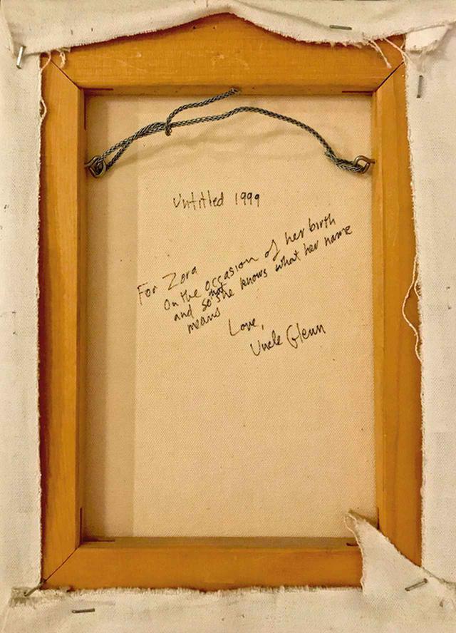 """画像: ライゴンはカンバスの裏にゾラへの献辞を書き記している (BACK OF PAINTING) GLENN LIGON, """"UNTITLED,"""" 1999, COURTESY OF ZORA SIMPSON CASEBERE"""