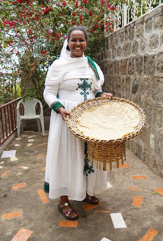 エチオピアの主食でもあるインジェラ
