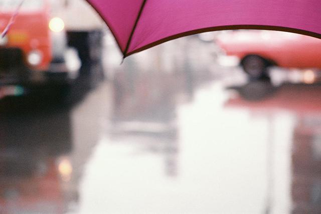 画像: 《薄紅色の傘》 1950年代、発色現像方式印画 Ⓒ SAUL LEITER FOUNDATION