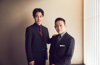 片岡孝太郎(右)・千之助