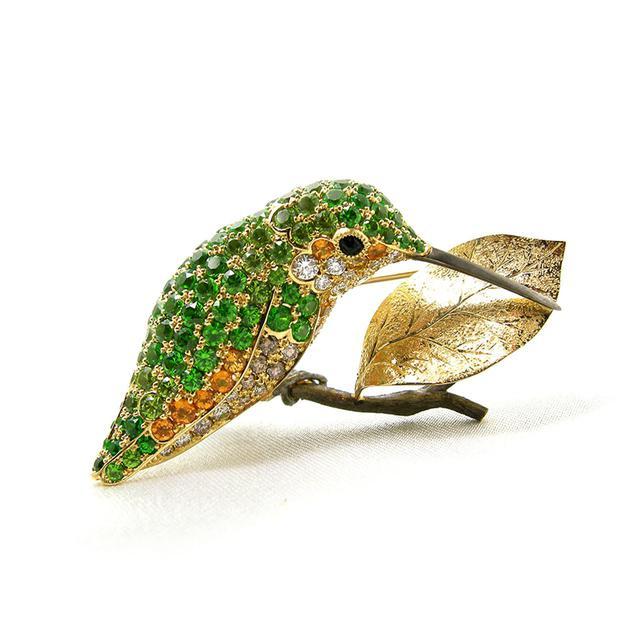 画像: 首藤 治さんの 《ハチドリのブローチ》¥3,640,000