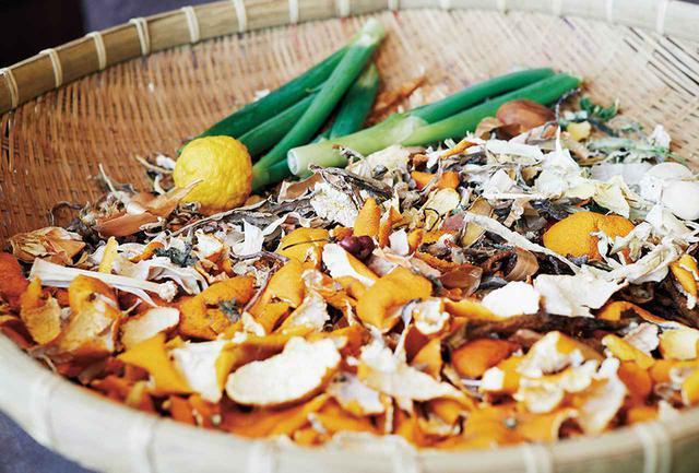 画像: 菜園で採った野菜を乾燥させて