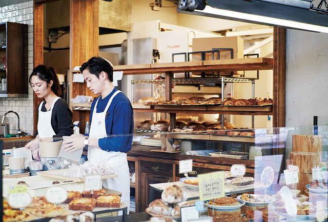 画像: パン工房をオープンにした設計