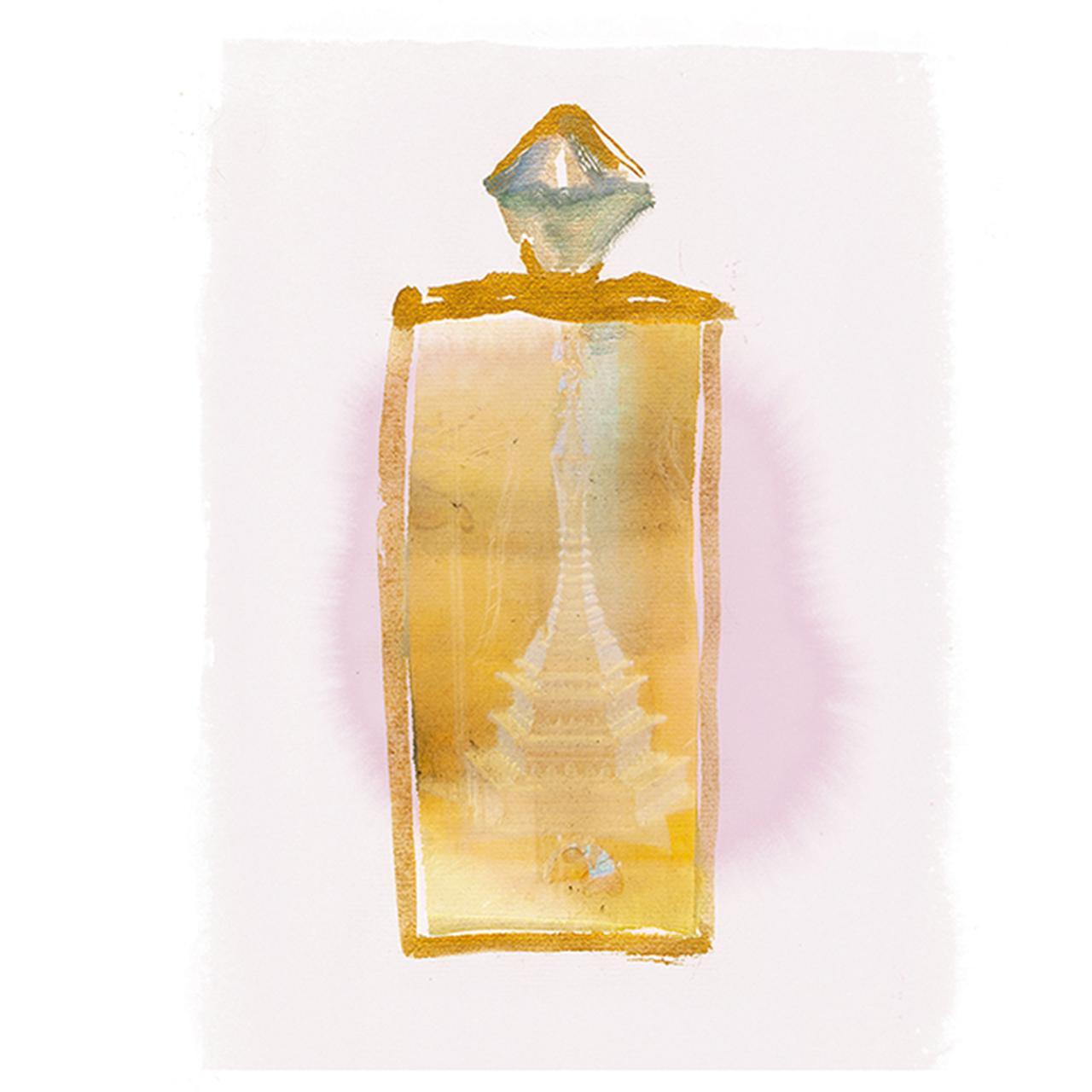 画像: ゴールド、クリスタル、マザーオブパールでできた彫刻。制作年代は不明