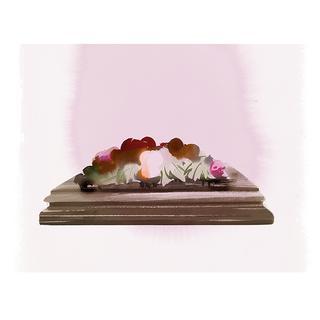 ヒスイ、メノウ、碧玉、ばら輝石のペーパーウェイト。1800年代