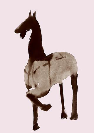 木製の馬、漢時代の中国、1世紀頃