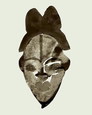 木製の仮面、プヌ族、ガボン共和国、17世紀頃