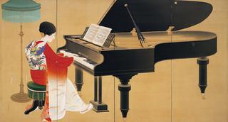 中村大三郎《ピアノ》1926