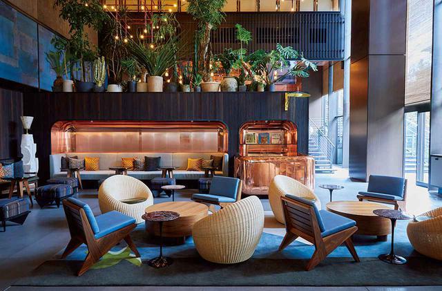 画像: 館内には、それぞれアメリカの著名なシェフが監修する3つのレストランとコーヒーショップを備える。写真はウェス・アヴィラによるメキシカン・ルーツのバー&タコスラウンジ「PIOPIKO」 ※プレオープン期間は、ナオミ・ポメロイによるメインダイニングは未開業。残り2つのレストランでは特別メニューを提供