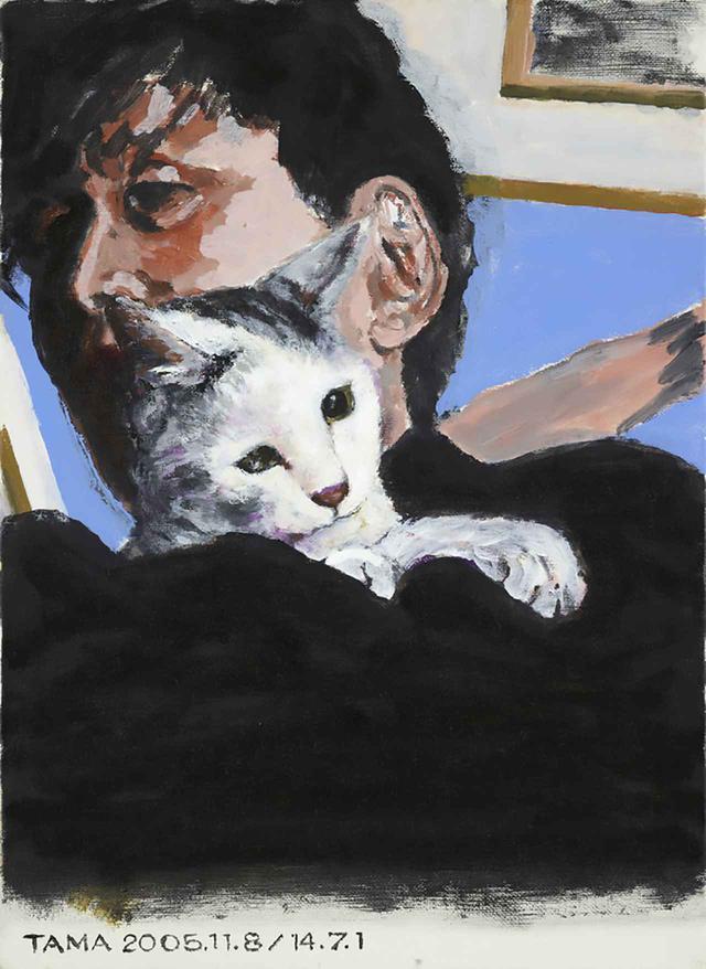 画像: 《タマ、帰っておいで 019 自宅にて》 2014 キャンバスにアクリル 33.3 x 24.2 cm © TADANORI YOKOO, COURTESY OF NISHIMURA GALLERY