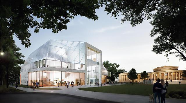 画像: 既存の施設の改修と新館建築に取り組む「オルブライト=ノックス美術館プロジェクト」(アメリカ・ニューヨーク州) © OMANY