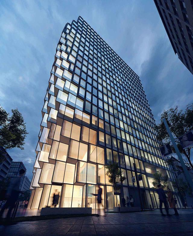 画像: 大規模再開発「天神ビッグバン」の中心的存在になる「天神ビジネスセンター(仮称)」(福岡県福岡市) © OMANY