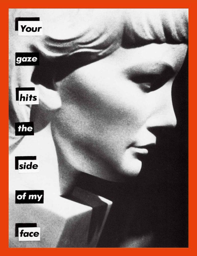 """画像: 《無題(あなたの視線が私の横顔に突き刺さる)》 (1981年) BARBARA KRUGER, """"UNTITLED (YOUR GAZE HITS THE SIDE OF MY FACE),"""" 1981, GELATIN SILVER PRINT, COURTESY OF THE ARTIST AND SPRÜTH MAGERS"""