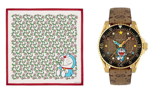 画像: (写真左)スカーフ<H70 x W70cm>¥41,000 (写真右)時計¥204,000 PHOTOGRAPHS: ©Fujiko-Pro, COURTESY OF GUCCI