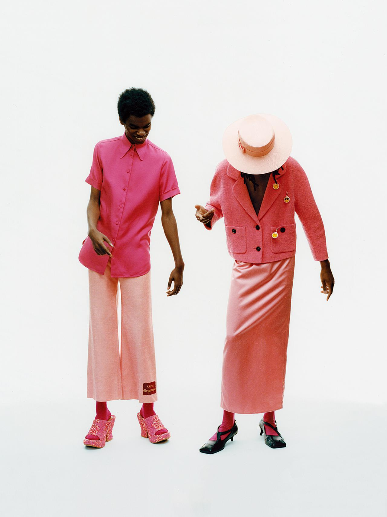 """Images : 1番目の画像 - 「""""私を幸福で満たす色"""" オール・イン・ピンクで 春のモード開花宣言」のアルバム - T JAPAN:The New York Times Style Magazine 公式サイト"""