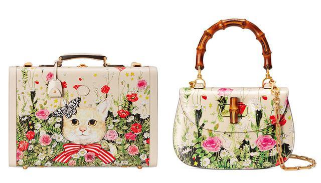 画像: (写真左)スーツケース<H31xW47.5xD17cm> ¥858,000 (写真右)バンブーハンドル バッグ<H18xW27xD6cm>¥429,000