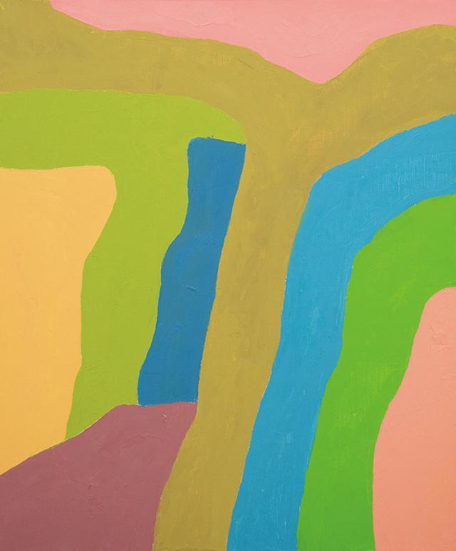 画像: エテル・アドナン《無題》2018年 油彩、キャンバス 55×46cm 詩人であり、小説家であり画家であるエテル・アドナン。日本文化をはじめ他文化から受けた影響を作品に反映 COURTESY OF SFEIR-SEMLER GALLERY BEIRUT / HAMBURG
