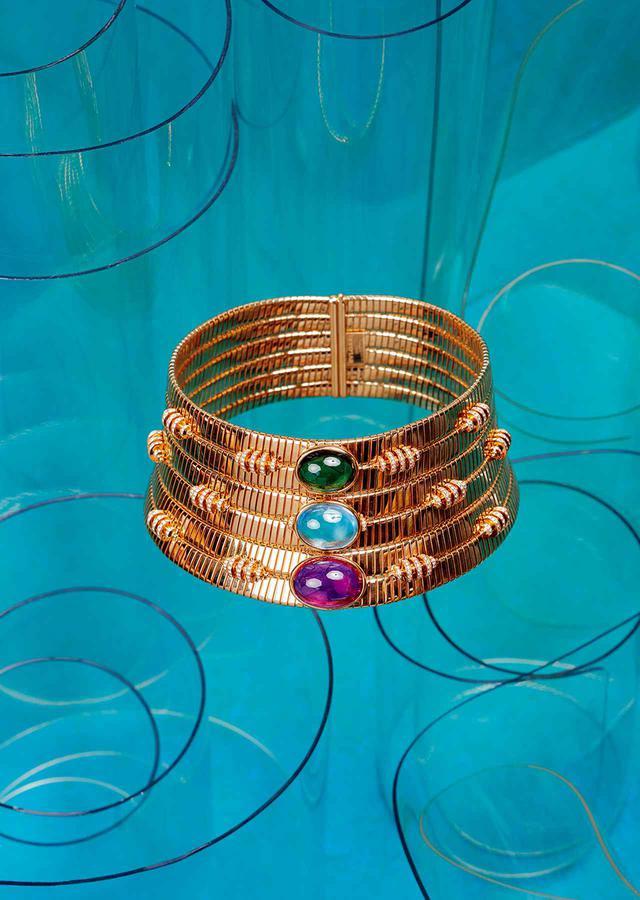 画像: ネックレス¥40,810,000(予定価格) <K18RG、ピンクトルマリン、グリーントルマリン、アクアマリン、ダイヤモンド>