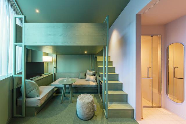画像: Loft Room B<20㎡>定員3名 部屋のカラーリングは、写真のほかにも2タイプある
