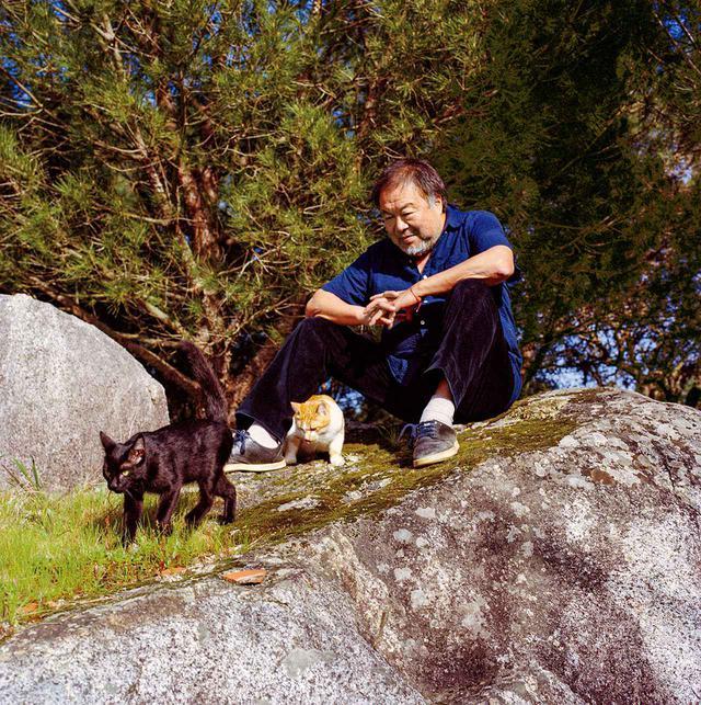 画像: 艾未未(アイ・ウェイウェイ) アーティスト、63歳。生後10カ月のシャドウ(左)と1歳のイエロー。ポルトガルのモンテモロノボにある彼らの自宅で2021年2月22日に撮影