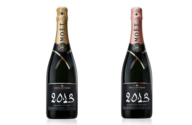 画像: (左より) 「モエ・エ・シャンドン グラン ヴィンテージ2013」<750ml>¥10,560(2021年7月中旬より順次発売予定) シャルドネ41%、ピノ・ノワール38%、ムニエ21%。青りんごやはちみつ、ナッツの香り。甘いヌガーのニュアンスも。余韻にはグレープフルーツの繊細な苦み。芳醇で深い味わい。アペリティフから魚料理、チキンなどの肉料理までカバー 「モエ・エ・シャンドン グラン ヴィンテージ ロゼ 2013」<750ml>¥11,990 ピノ・ノワール44%(うち赤ワイン14%)、シャルドネ35%、ムニエ21%。赤いベリーやスパイス、抱くチョコレート、ドライフラワーの香り。繊細ながら深みのある味わい。「日本料理なら鮎の塩焼きにも合います」とブノワ氏 PHOTOGRAPHS:COURTESY OF MHD