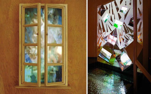 画像: (写真左)《メタ・マルセル:窓(花)》(部分)1983年 PHOTOGRAPH BY PETER MOORE COURTESY OF SHIGEKO KUBOTA VIDEO ART FOUNDATION; ©ESTATE OF SHIGEKO KUBOTA (写真右)《ナイアガラの滝》1985/2021年 久保田成子ヴィデオ・アート財団蔵(新潟県立近代美術館での展示風景、2021年) PHOTOGRAPH BY YUKIHIRO YOSHIHARA © ESTATE OF SHIGEKO KUBOTA