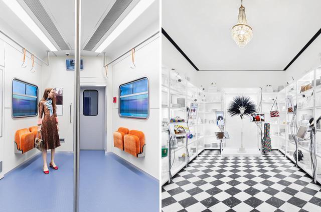 """画像: (写真左)アレッサンドロがグッチで初めて手がけた2015年秋冬コレクションの広告キャンペーン""""Urban Romanticism""""。都市の洞窟であり、またある場所からある場所へと移動する狭間の空間である「地下鉄」を舞台に、旅についての物語を紡いだ (写真右)2020年クルーズコレクションのキャンペーン""""#ComeAsYouAre_RSVP""""。「グッチは皆が参加できるパーティーのようなもの」をテーマに、映像はハーモニー・コリンが監督を務めた PHOTOGRAPHS: COURTESYOF GUCCI"""