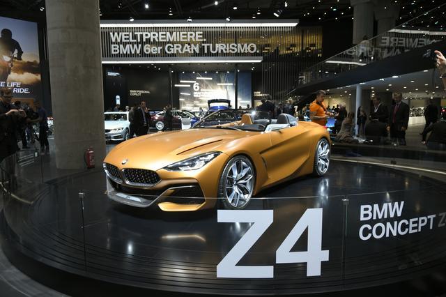 画像: BMW コンセプト Z4。早ければ来年後半にも市販が期待できそう。(写真はフランクフルトショー時のもの)