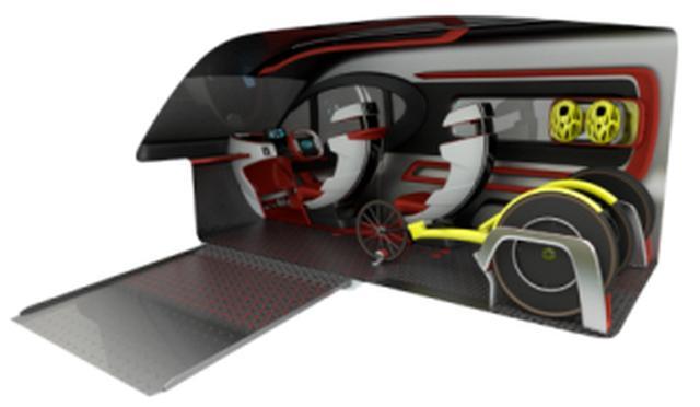 画像: LCV ATHLETIC TOURER CONCEPT。競技用具を積み込みやすい。