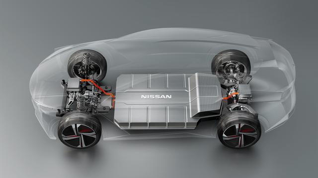 画像: 大容量のバッテリーは床下に配置することで、低重心化が図られている。
