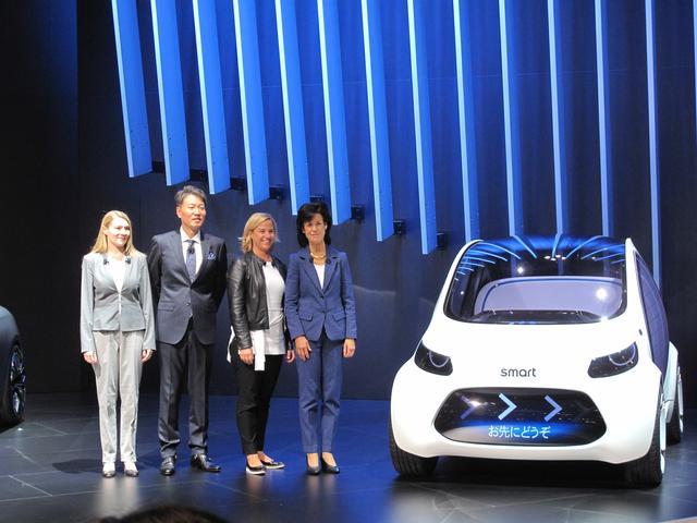 画像: 【速報・smart】ハンドルがない、ブレーキもない、所有もできない究極のシェアリングカー【東京モーターショー2017】
