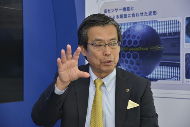 画像: 日本グッドイヤー取締役 営業本部長の吉沢雄一氏。
