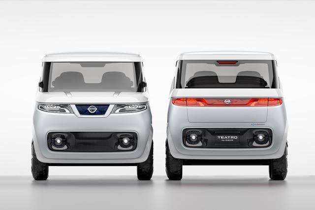 画像: 2015年の東京モーターショーに出品されていた日産の「TEATRO for DAYZ」。この時点では三菱と提携していないが、NMKVを通じて両社は電動化についても合意していたはずだ。