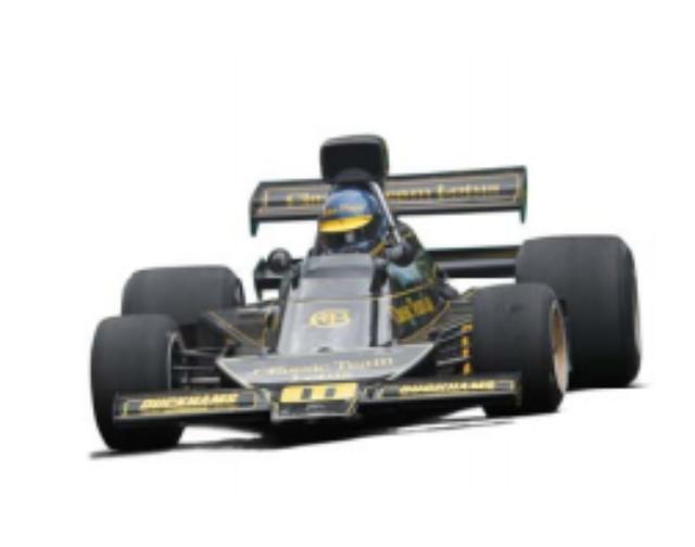 画像: 1974 Lotus 76 ロータス72の後継車として1974年に発表。トーションバー・サスペンションやインボードブレーキなど72から流用した部分も多かったが、デルタ形のアルミ・モノコック、複葉式のリヤウイングなど、軽量化や空力性能の向上に力が注がれていた。 新機軸としてヒューランドFG400に電磁クラッチを組み合わせ、シフトノブのボタンでクラッチ操作を可能としたセミオートマ・システムを搭載。ステアリングシャフトの左右に左足用、右足用のブレーキペダルを配した4ペダル式を採用することで、ドライバビリティの向上を狙ったが南アフリカGPで使用されたのみでお蔵入りとなった。通常の3ペダルMTに戻されるも、戦闘力不足から非選手権を含む7レースに出走しただけで、72Eに替えられてしまった。このシャシーナンバー1は、4レースに参戦したものの、目立った成績を残すことができなかった。