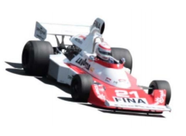 """画像: 1975 Williams FW04 1969年にプライベーターとしてブラバムBT26AでF1挑戦をスタートしたフランク・ウイリアムズ・レーシングカーズ。その後、紆余曲折を経て73年からはオリジナル・マシンを製作しコンストラクターとしての活動も開始する。FW04はウイリアムズが1975年用に用意したマシンで、スペインGPで登場。DFVとFG400を組み合わせた典型的な""""キットカー""""であるものの第11戦ドイツGPでラフィーが予選15位から値千金の2位でフィニッシュ。チーム創設後初の表彰台を獲得した。このシャシーナンバー2は、最終戦アメリカGPで、女性ドライバーとしてF1史上初の入賞記録を持つレラ・ロンバルディが24位で予選通過を果たすも、決勝レースはトラブルのためスタートできなかった。"""