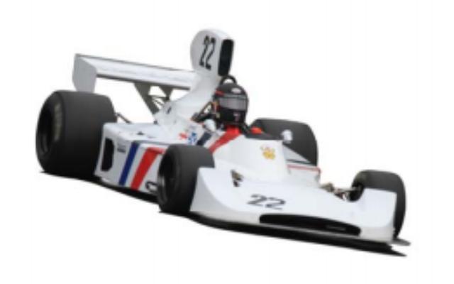 画像: 1974 Hesketh 308B ヘスケスは、大富豪でレース好きの貴族、アレキサンダー・ヘスケス卿が設立したレーシング・チームで、気鋭の新人ジェームス・ハントを擁して1973年からF1へと進出。74年からポスルスウェイト設計のオリジナル・マシン308を投入し、4月にブランズハッチで行われた非選手権のBRDCインターナショナル・トロフィーで優勝したほか、公式戦で3度の表彰台に立つなどの活躍を果たした。 74年に308として製作されたシャシーナンバー1は、ハントがドライブしBRDCインターナショナル・トロフィーで優勝した個体そのもの。シーズン後半にサイドラジエター、フォワード・ウイングなどを装備した308Bにアップデートされた。